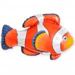Шар (35''/89 см) Фигура, Рыба-клоун, Оранжевый, 1 шт.